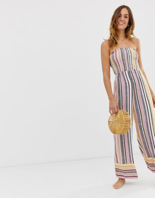 c98eb72f57 River Island beach jumpsuit in stripe in 2019 | To Buy | Beach ...