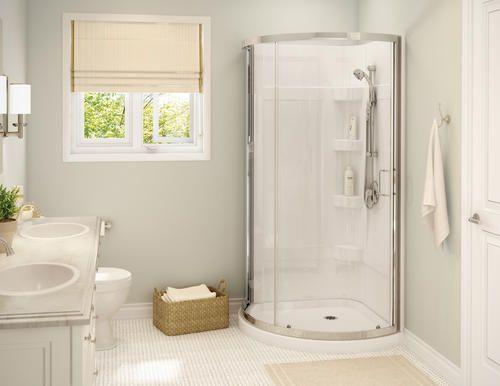 Maax Cyrene Shower Kit 34 X 34 Chrome Clear Glass Corner Shower Unit Bathroom New