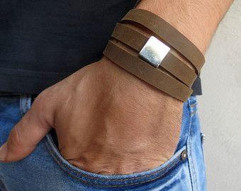 Herren Armband - Männer Leder - Herren Schmuck - Männer Armband - Männer Schmuck - Herren Geschenk - Freundgeschenk - Mann Geschenk - männlich
