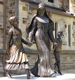 Statue of Mary MacKillop, St Francis Xavier's Cathedral, Adelaide.