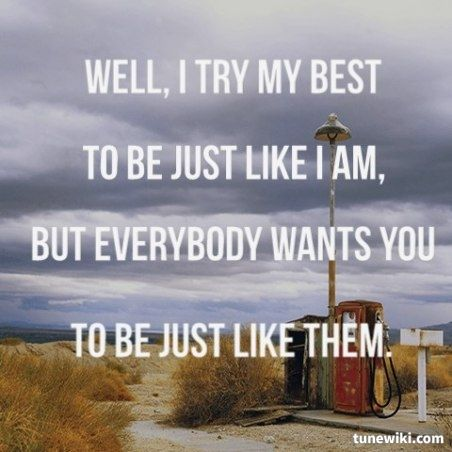 Lyric Art of MAGGIE'S FARM by Bob Dylan
