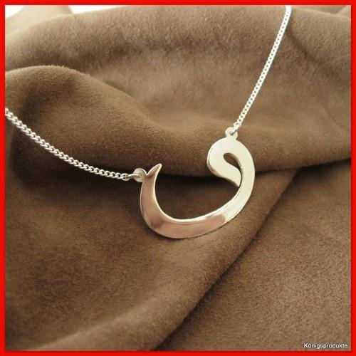 Symbolkette  VAV  925er Silber, Osmanisch, Arabischer Buchstabe | eBay