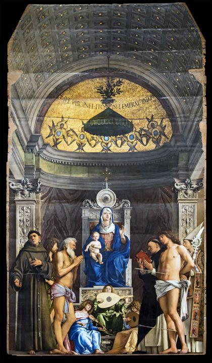 Giovanni Bellini, Pala di san Giobbe, 1478 ca (fonte Wikimedia commons, public domain, web gallery of art)