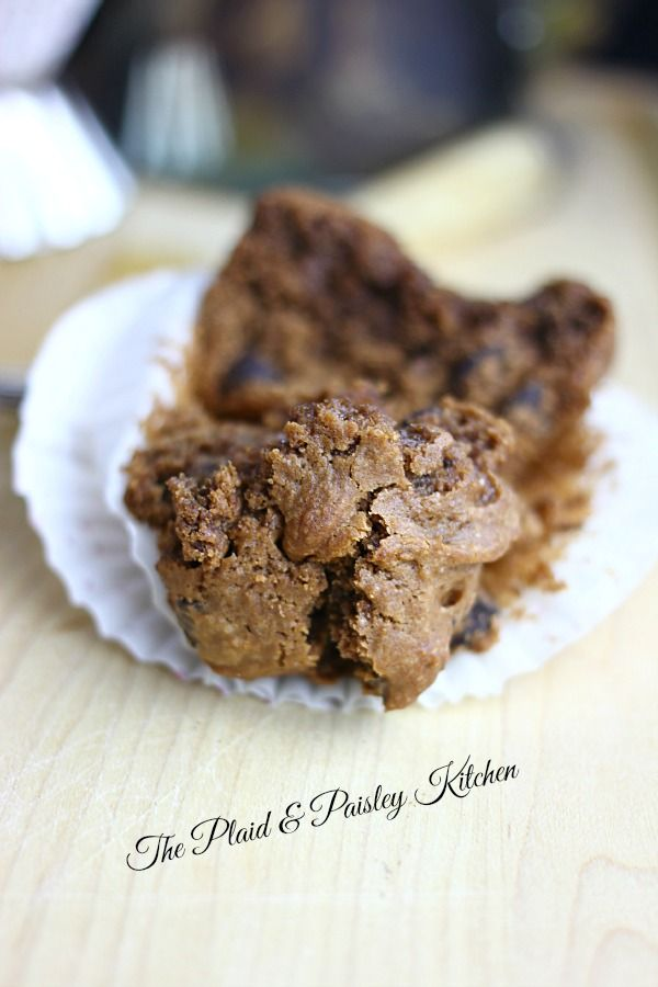 Cappuccino Muffins ~ The Plaid & Paisley Kitchen ~ These rich chocolaty muffins have a jolt of caffeine in them making them a perfect get up and go breakfast! These are going to be the best little chocolate muffin you have ever eaten.
