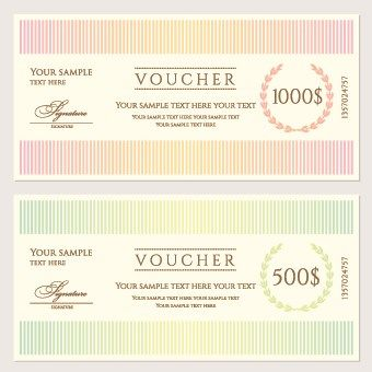 Certificate coupon design template vector 05