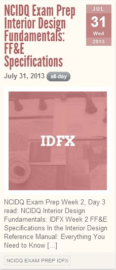 NCIDQ Exam Prep IDFX Focus On FF Research Design Theory Human Behavior