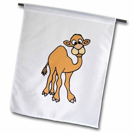 3dRose Funny Camel Art Perfect for Over the Hump Day, Garden Flag, 12 by 18-Inch
