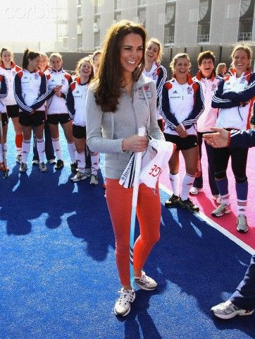 ***NO UK SALES for 28 days until 14-4-2012*** Catherine Duchess of Cambridge plays hockey with the GB hockey teams in London