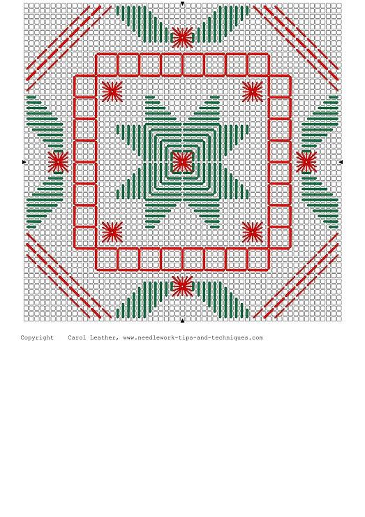 (1) Gallery.ru / Foto # 2 - Scheda di Hardanger Natale - credenza