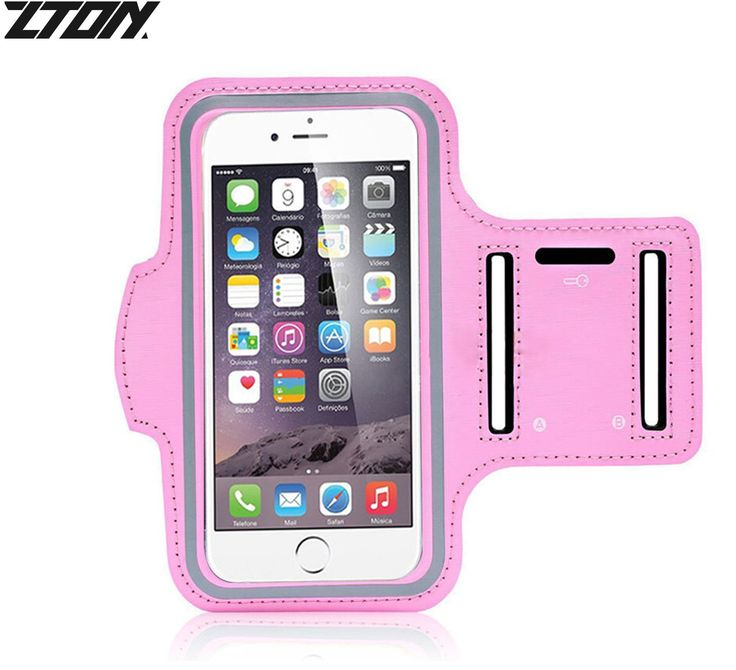 ZTON Sports Armband, Water Resistant running Cell phone case with Key Holder for iPhone 7 6S 6 5S 5, Samsung Galaxy S3 S4, LG, Blackberry, for Gym Exercise Jogging Fitness (Pink 4.7''). Compatibility -- The size fits phones with the phone size ranging from 4.5 to 5.0 inches with any case, such as iPhone 7 6 6S 5 5S 5C SE 4 4S, LG, HTC, Nokia, Blackberry, Huawei P7, etc. The clear plastic is thin enough then you can use your phone screen directly. Danny fabrics with waterproof design can...