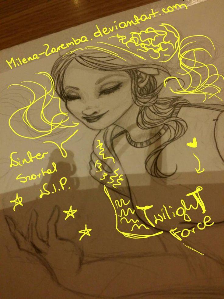Winter Szortal WIP by Milena-Zaremba  #art #sztuka #drawing #rysunek #pencil #ołówek #sketch #szkic #WIP #work #progress #preview #manga #anime #girl #woman #dziewczyna #konieta #winter #zima #szortal #Twilight #Force #TwilightForce #sweter #sweater