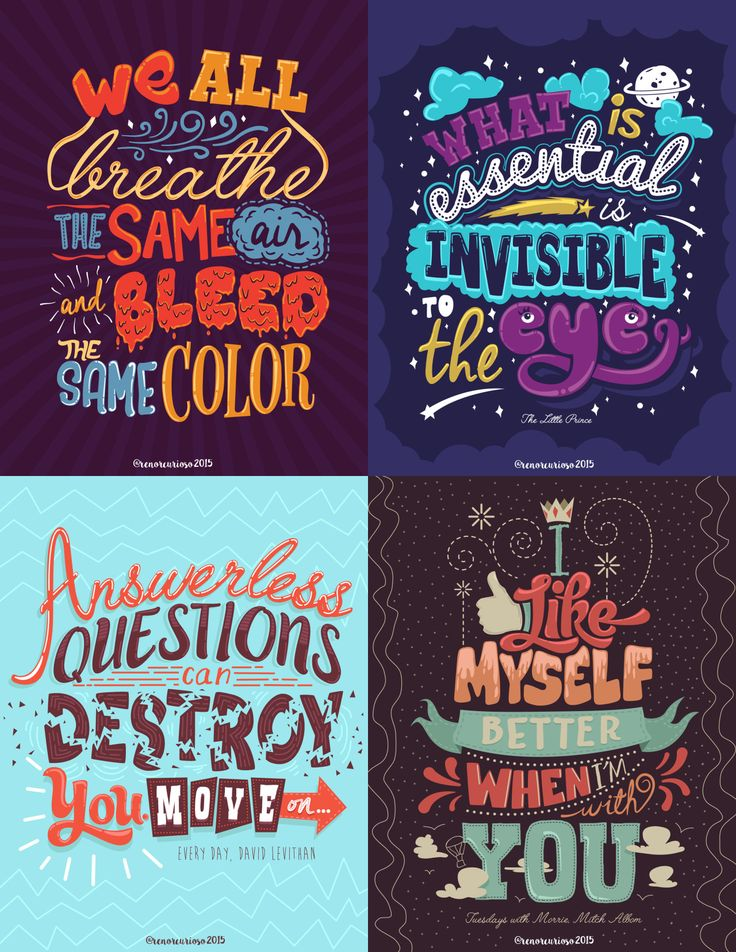 This is actually my work and this inspires me everyday. To create more and more typography quotes and eventually come up with a lot of them to inspire more...