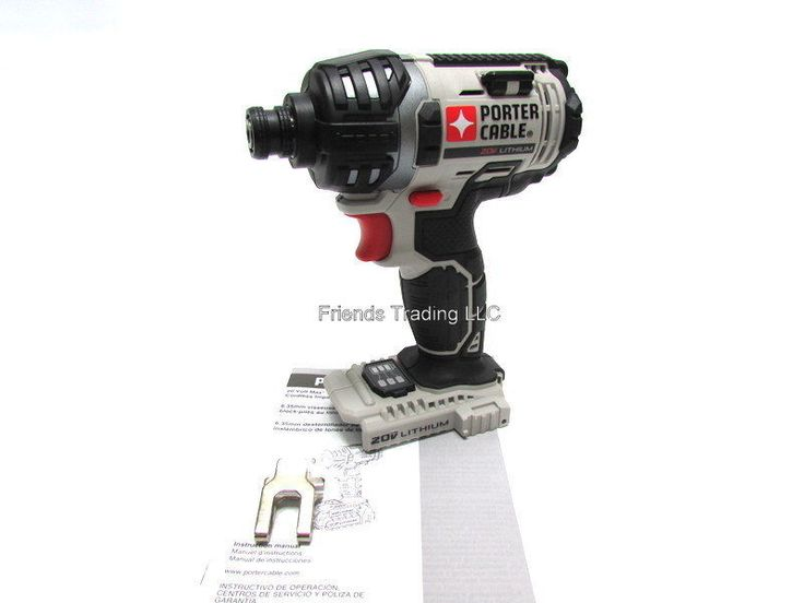 Porter Cable 20V 20 Volt Lithium Ion Cordless Impact Driver Drill PCC640  NEW   Дом и сад, Инструменты, Электроинструменты   eBay!