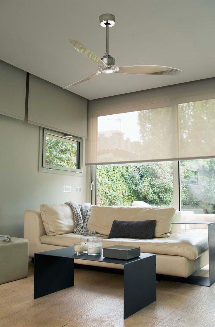 Ventilador de techo cromo JUST FAN ambiente