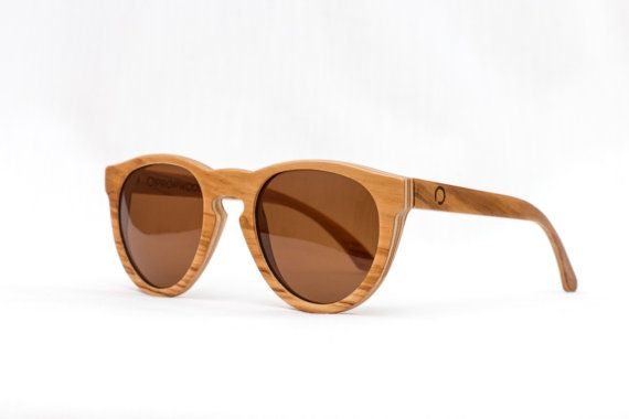 Satin Walnut Wood Sunglasses Birch Wooden Sunglasses by Propwood