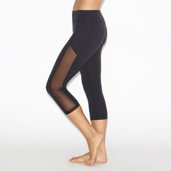 Beyond Fitness Leggings: Beyond Yoga Crystal Mesh Paneled Leggings—a Little Mesh