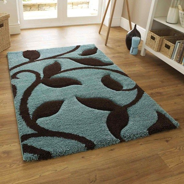 Fashion carving 7647 rugs in blue brown buy online from the rug seller uk