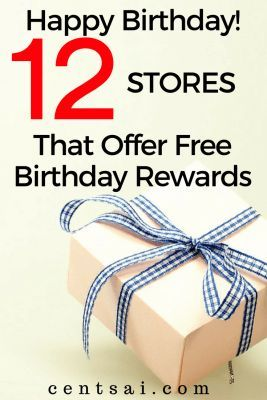 Ya gotta love celebrating your special day with free birthday rewards. So hop on it and sign up for birthday freebies at your fave stores!