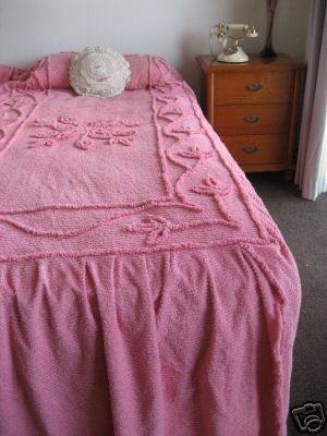 Candlewick Bedspread, used to pull all the threads out and leave bald patches :D