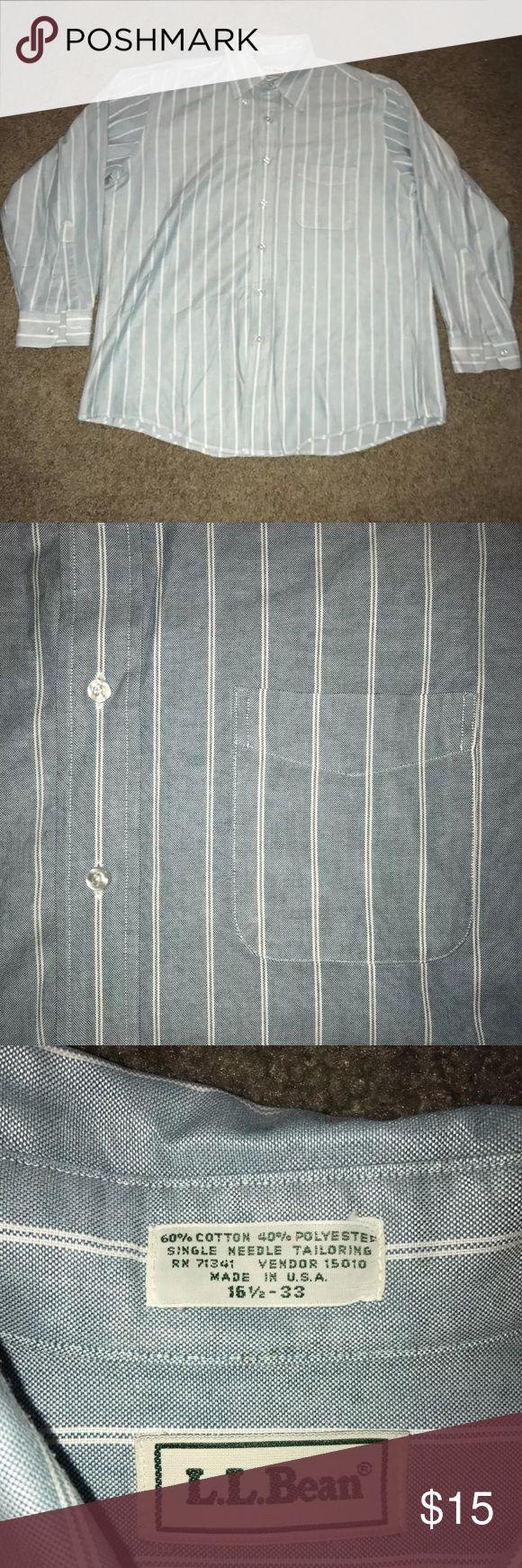 LL bean men's dress shirt 16.5-33 In great condition L.L. Bean Shirts Dress Shirts