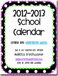 Free!! Great organizational calendar to use for next year!  Track themes, meetings, IEP dates, etc!