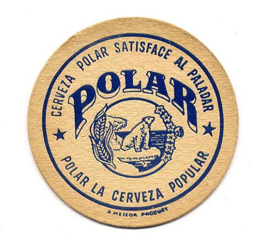 Cerveza Polar coaster  que rica es una Polar bien fria!!
