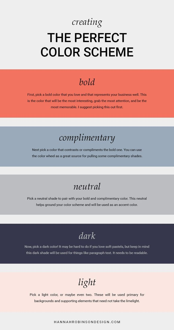 How to Create The Perfect Color Scheme – OR I could just gank this one.