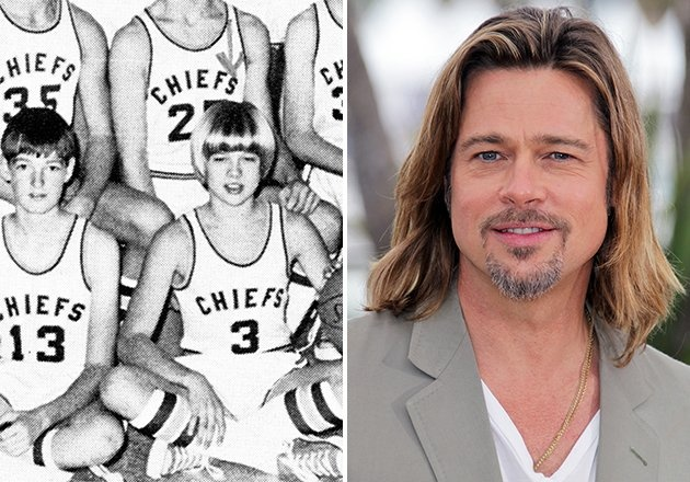 Finally, proof that Brad Pitt and his lovely locks have always out-shined his peers. While we don't have evidence to support the theory that Brad was probably a killer basketball player, but we'd like to think his athleticism isn't just an act. After all, even as a freshman at Kickapoo High School in Springfield, Missouri, it seems Brad always looked like a winner.