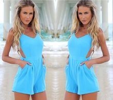 Hot!2014 New design backless short piece pants , Siamese trousers , sexy coveralls Best Buy follow this link http://shopingayo.space