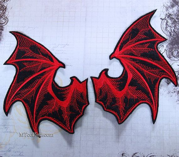 This giant design looks like two blood red wings from a demon. You get two…