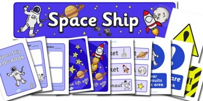 Space Ship Role Play Pack  for our upcoming space explorer unit study!!