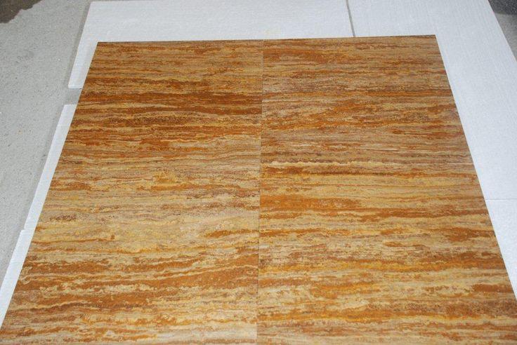 Saroya gold travertine - vein cut