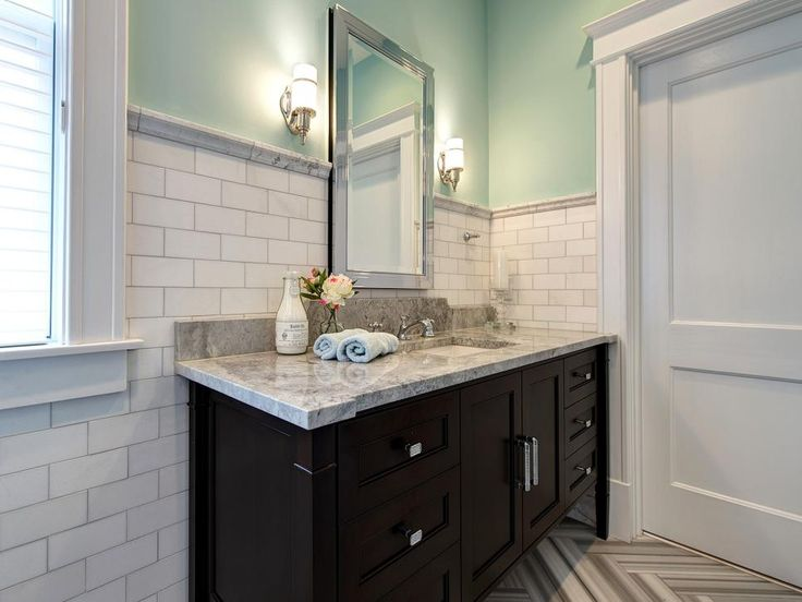 Captivating A Built In Vanity With A Marble Countertop Is Featured In In This Elegant  Bathroom