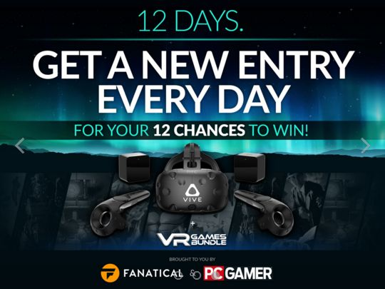 Fanatical and PC Gamer are giving you a chance to win this epic VR Bundle! One lucky person will win a HTC Vive, plus Steam Keys for Fallout 4 VR, DOOM VFR, Batman Arkham VR, SUPERHOT VR, A-Tech Cybernetic, L.A. Noire: The VR Case Files! https://wn.nr/JZM7Ms