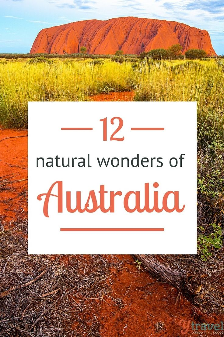 12 Natural Wonders of Australia - put these on your bucket list for your trip down under!