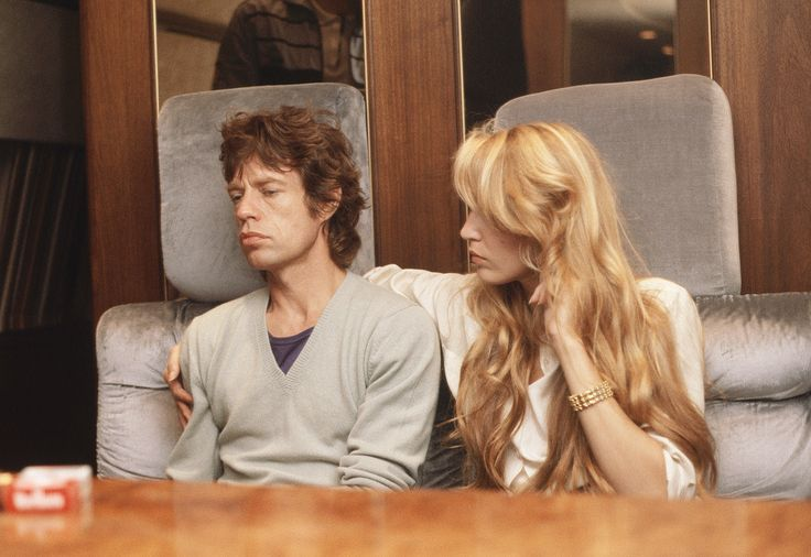 "aluacrescente: "" ""Mick Jagger and Jerry Hall, 1982 "" © Denis O'Regan """