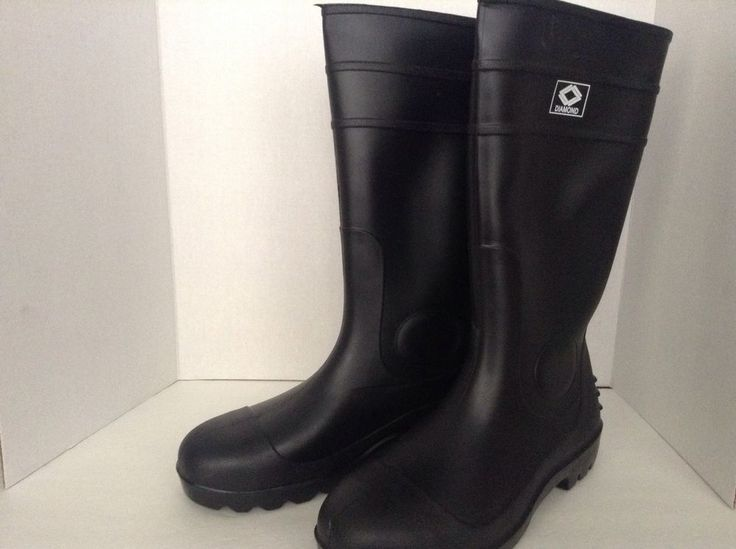 Diamond Steel Toe Tall Waterproof Rubber Work Boots New Size 13 Navy Blue #Diamond #WorkSafety