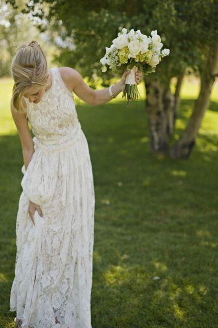 All Over Lace Summer Style Boho/Bohomain A-Line Wedding Dresses For Bridal,Bridal Dress,Boho Wedding Dress