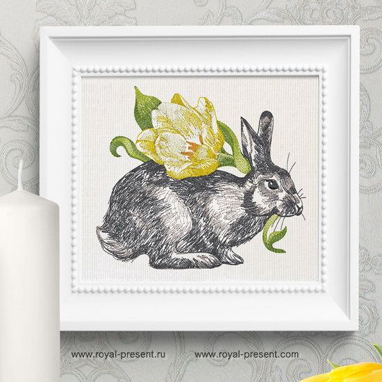 Spring Bunny Embroidery Design - 3 sizes