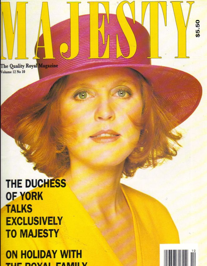 SARAH FERGUSON UK Majesty Magazine 10/91 Vol 12 No 10