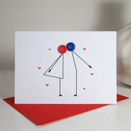 A quirky romantic card to send to the one you love or others celebrating their love for each other. This card can be used for a number of ocassions; Valentines Day, to give to the happy couple on their engagement or wedding day or to give to your own p...