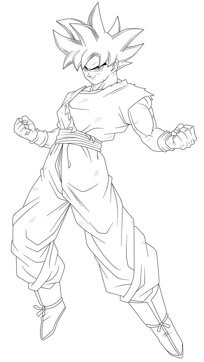 Goku In The Limit Lineart By Saodvd On Deviantart Com Imagens