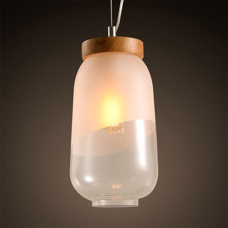 Modern minimalist Japanese style restaurant bar glass lamp Pendant Lights wooden bedroom lamp tatami pendant lamps LU808142