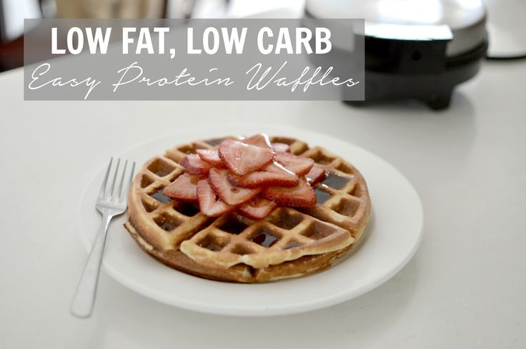 This waffle recipe is easy to make, packed with protein, low on fat and carbs, and taste great... Perfect for meal preppers and/or macro counters!