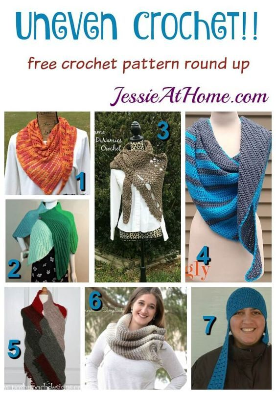 Uneven Crochet free crochet pattern round up from Jessie At Home: