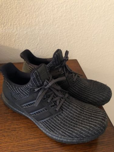 1c5c5abb0e0 Men s Adidas Ultra Boost Ultraboost 4.0 Triple All Black Size 11 Running  Shoes