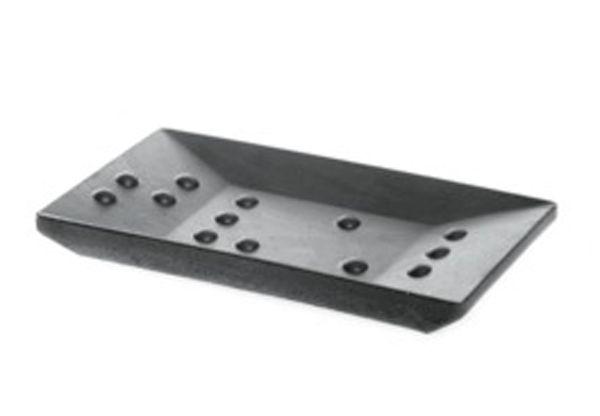 Iris Hantverk Square Concrete Soap Dish, Dark Gray