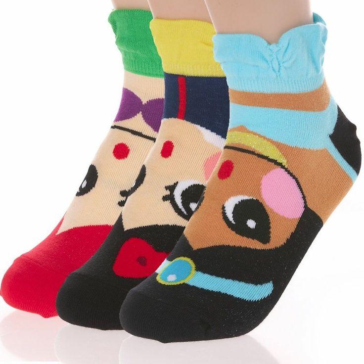 Womens Girls Princess Cartoon Character Socks Ariel Snow White Jasmine