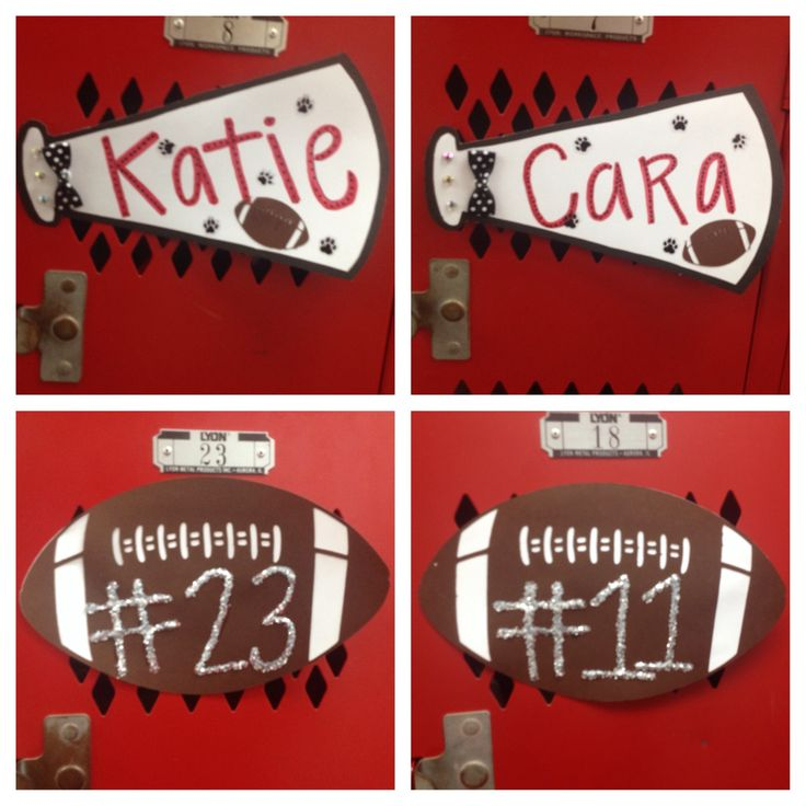 Cheerleading Locker Decorations. First locker decorations of the WHS Football season making Katie s  Senior year Best 25 Cheerleading ideas on Pinterest