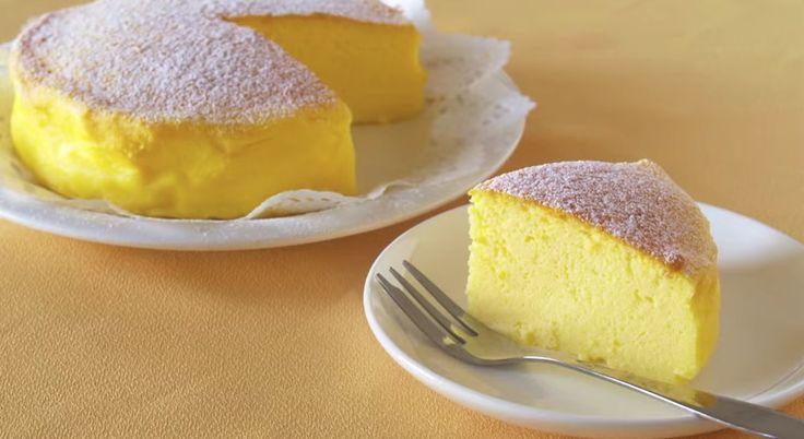 ¡La tarta más viral de internet! Deliciosa receta de pastel de queso japonés con solo 3 ingredientes.
